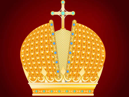 Royal gold crown in a vector
