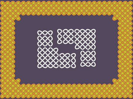 Background with a frame in the form of celtic patterns in a vector Stock Vector - 9685740