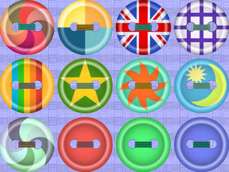 fasteners: Collection of buttons of fasteners for clothes - a background