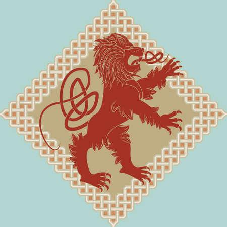 Medieval heraldic symbol a lion  Stock Vector - 9786468