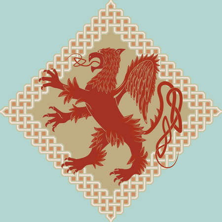 bird  celtic: Medieval heraldic symbol a griffin