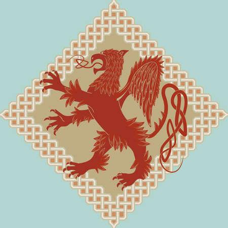 celtic mythology: Medieval heraldic symbol a griffin