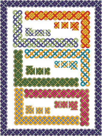 Set celtic patterns for a frame in a vector