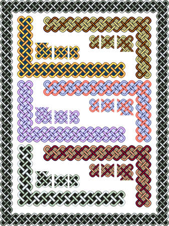 Set celtic patterns for a frame in a vector Vector