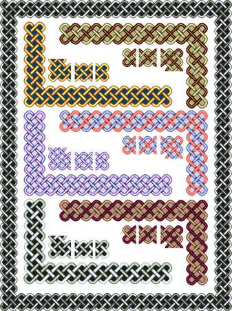 lattice frame: Set celtic patterns for a frame in a vector