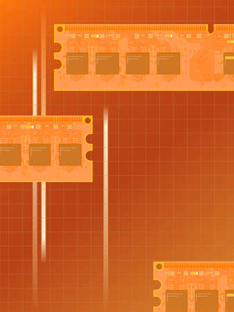 semiconductors: Background with electronic memory in a vector