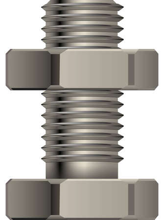 Bolt and nut for fixture Vector