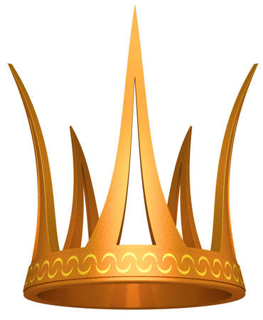 Gold crown the princess isolated on a white background Stock Photo