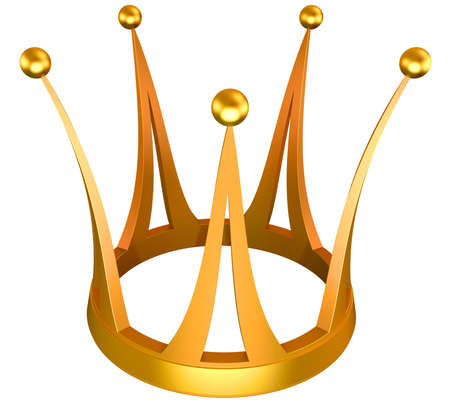 jeweller: Gold crown the princess isolated on a white background Stock Photo