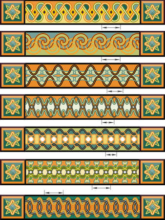 national border: Elements of design in Celtic style in a vector