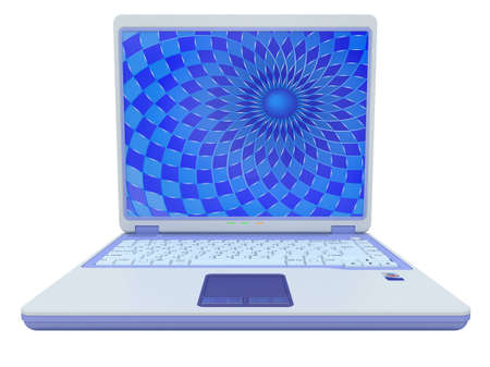Portable computer laptop c a background on the screen Stock Photo - 11281921
