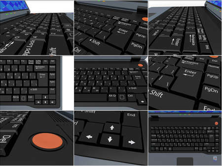 The keyboard of a portable computer laptop  Stock Photo - 11499248