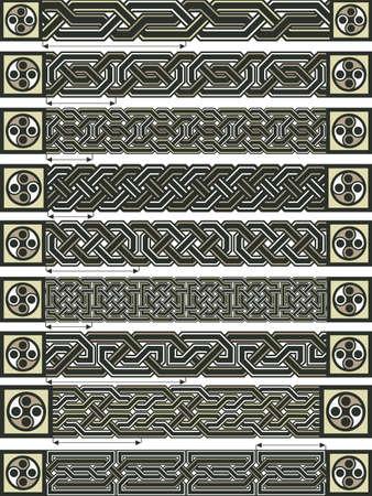 Elements of design in Celtic style  Illustration