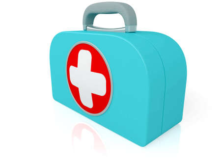 firstaid: The medical first-aid set a symbol of the help Stock Photo