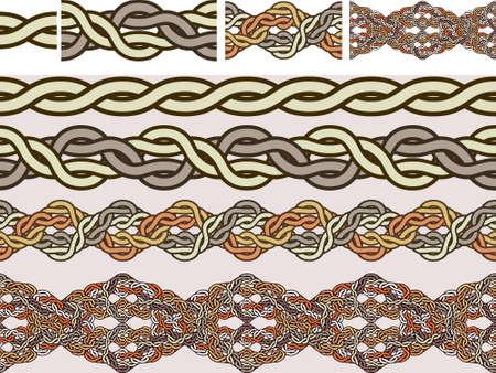 celtic design: Celtic national ornaments of weaving in a illustration for brushes Illustration