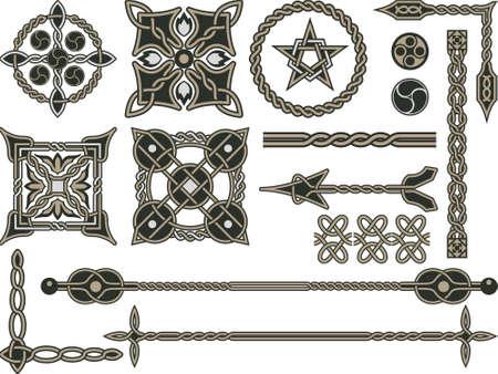 celtica: Elementi celtici tradizionali per la progettazione di un'illustrazione
