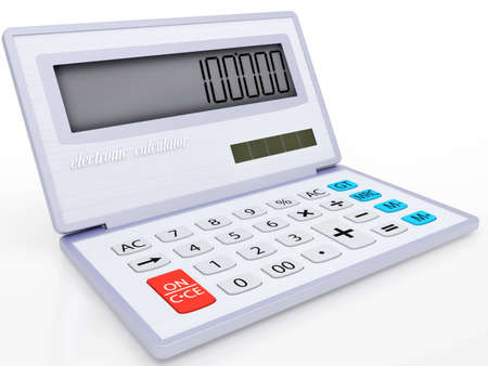 The electronic calculator on a solar energy for mathematical calculations 3d Stock Photo - 12970880