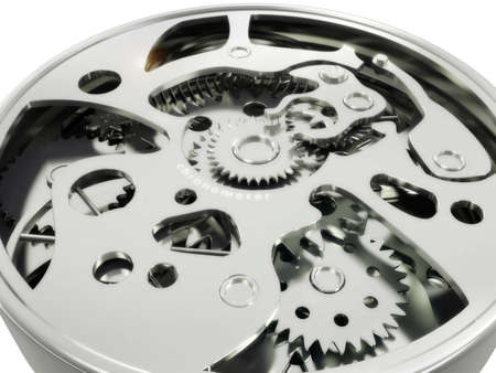 chronometer: The mechanism of hours of a chronometer from gears and springs in 3d