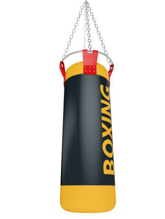 Boxing bag for training isolated on a white background 3d Stock Photo - 13334169