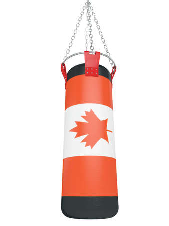 suspend: Boxing bag for training isolated on a white background 3d Stock Photo