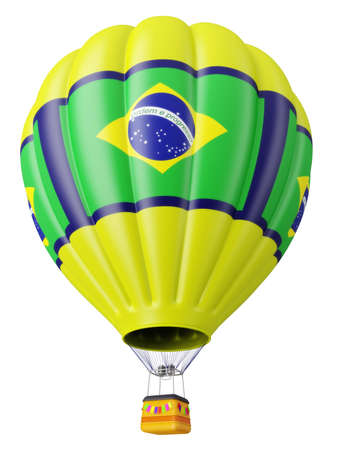 Multi-colored balloon for flight in air isolated 3d Stock Photo - 13759330
