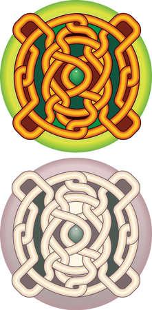 keltische muster: Element of Design der Button mit keltischem ein Muster