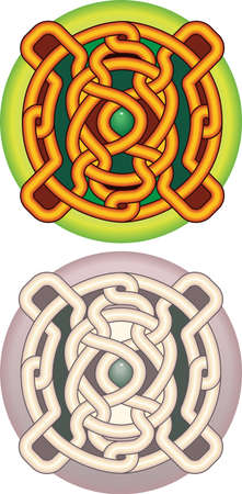 celtic pattern: Element of design the button with celtic a pattern