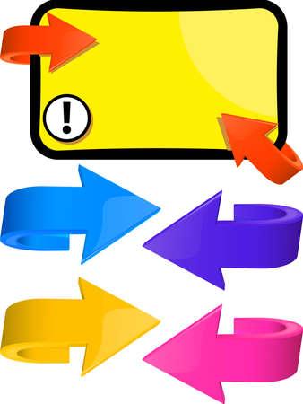 Set of elements of design multicoloured arrows  Illustration