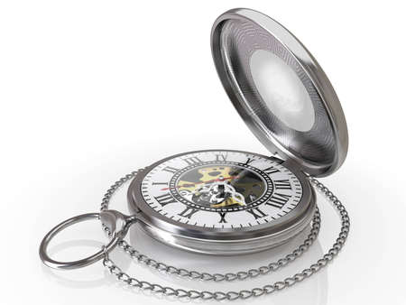 pocket watch: Ancient pocket antiquarian hours in 3d