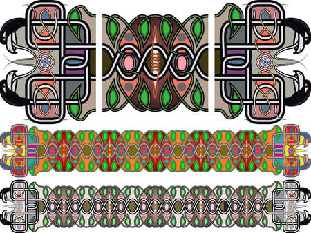 Traditional medieval celtic patterns in a vector Stock Vector - 15443083