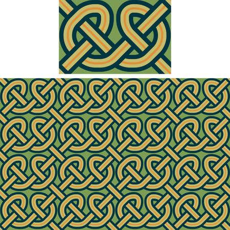 weaving: seamless a background celtic a pattern Illustration