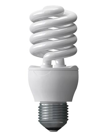 energy saving bulbs for illumination isolated - 3d Stock Photo - 16160704