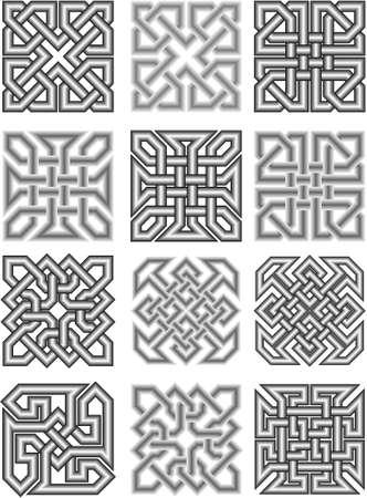 keltische muster: Celtic traditionelle mittelalterliche Ornamente