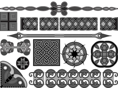 Elements of design in medieval celtic style Stock Vector - 16257558