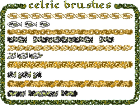 Celtic ornament in a seamless for creation of brushes Vector