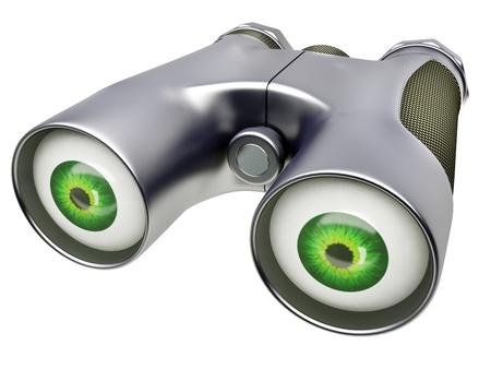supervisi�n: El dispositivo binocular para la supervisi?n en 3d