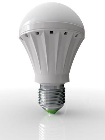 technological: Modern bulb for illumination with technology LED energy saving up 3D
