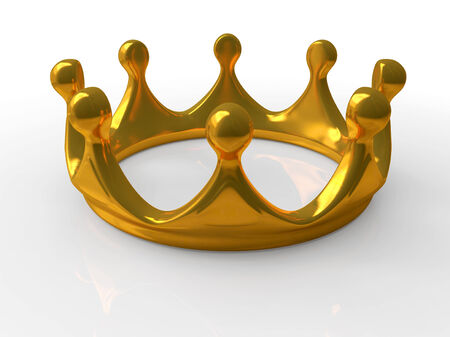 jeweller: Ancient gold crown a symbol of royal authority 3d Stock Photo