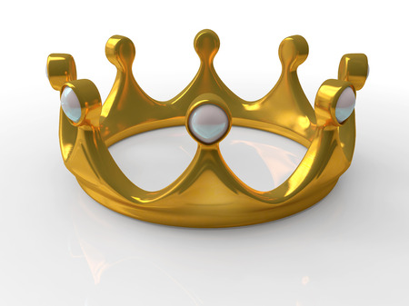 Ancient gold crown a symbol of royal authority 3d Stock Photo