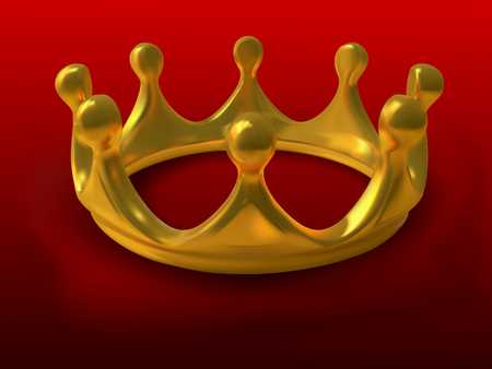 moulding: Gold crown a symbol of authority in a vector - gradient mesh