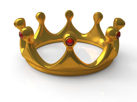 moulding: Ancient gold crown a symbol of royal authority 3d Stock Photo