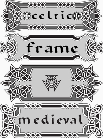 celtic: Set celtic frame an element of design in the Irish style - vector