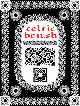 border designs: celtic brush for  frame and design seamless vector