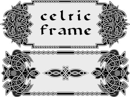Frame in Celtic style a vector an element of design Vector Illustration