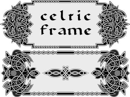 keltische muster: Rahmen im keltischen Stil ein Vektor ein Element der Gestaltung Illustration