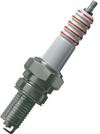 enchufe: bujía de encendido para el motor del coche vector, de malla de gradiente Vectores