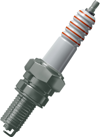 car plug: Spark plug for the engine of the car vector, mesh gradient Illustration