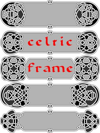 celtic: Frame in Celtic style a vector an element of design