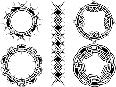 prickle: Ornament, frame and borders in celtic style - a vector