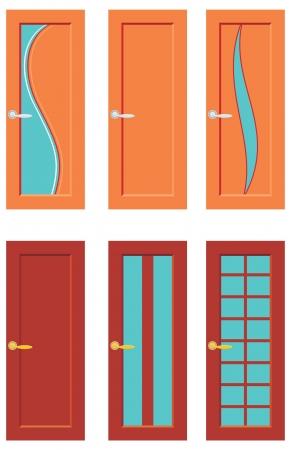 doorframe: Conjunto de puertas para los cuartos Vectores